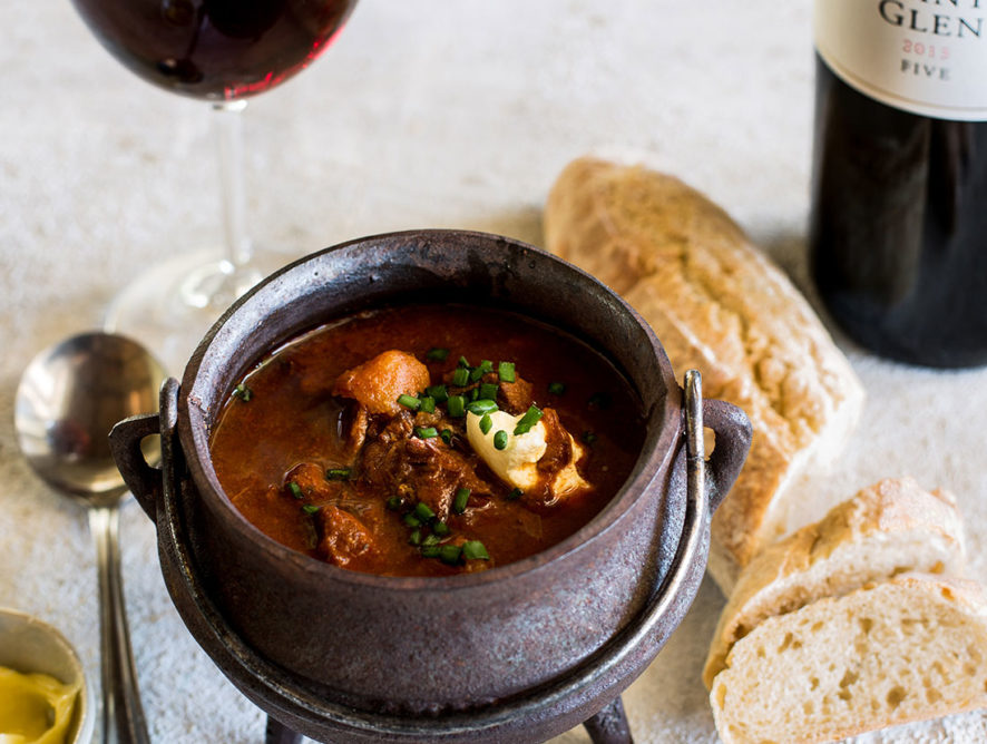 Soup and wine pairing at Constantia Glen